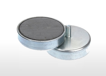 External Thread Ferrite Pot Magnets