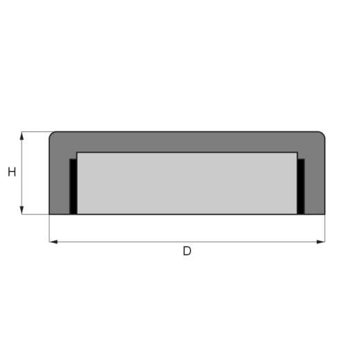 flat-pot-ndfeb-magnets-parameter-drawing