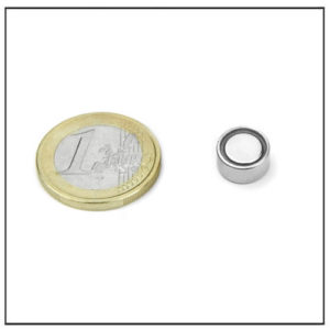 Small Flat Pot Magnet Neodymium Ø 10 X 5 mm