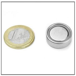 Flat Cup Magnet NdFeB in Steelpot Ø 20.2 X 6 mm