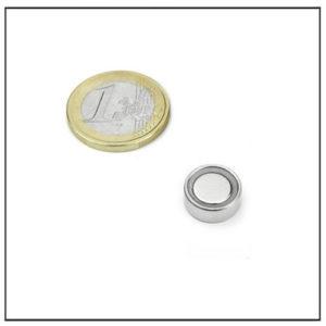 Flat Neodymium Pot Magnet Ø 14 X 4.5 mm