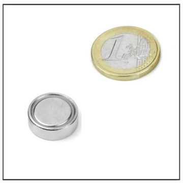 Flat Neodymium Mouting Magnet Ø 18 X 6 mm