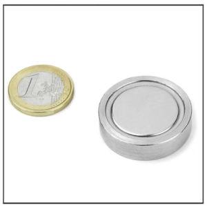 NdFeB Flat Cap Magnet Ø 38 X 7.4 mm