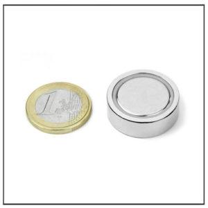 Ndfeb Flat Pot Ø 25 X 7.7 mm