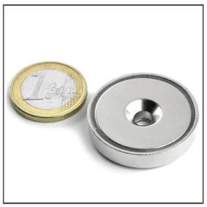 powerful ndfeb shallow pot magnet