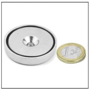 42mm countersink bore neodymium pot magnet