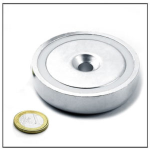 75mm neodymium round base magnet
