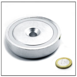 80mm pot countersunk magnet