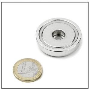 Cylindrical Borehole Mounting Magnet