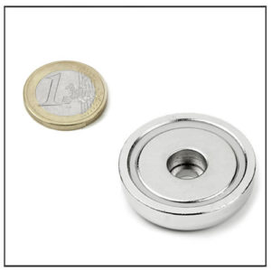 Cylindrical Hole Cup Magnet