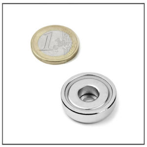 Neodymium Pot Magnet with Borehole