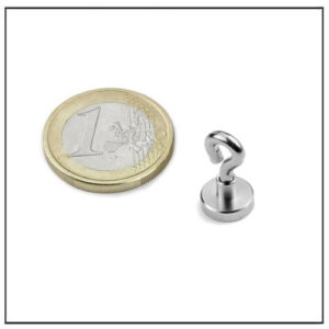 Small Neodymium Pot Magnet with Eyelet Ø10 mm