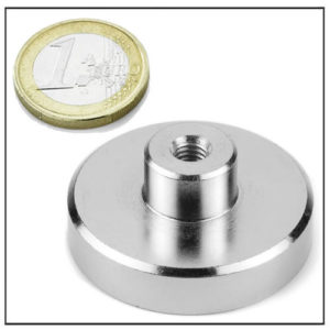 Ø45 mm NdFeB Shallow Pot Magnet w Inner Thread