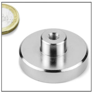 Female Stud Pot Magnet Ø42 mm