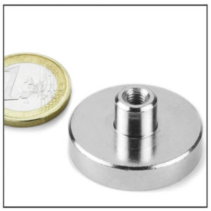 Internal Screw Thread Pot Neodymium Magnet Ø32 mm