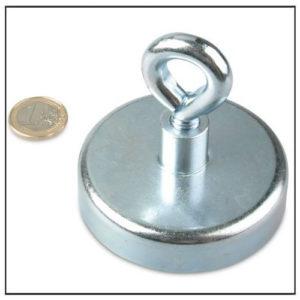 Large Neodymiu Eyelet Pot Magnet Ø75 mm