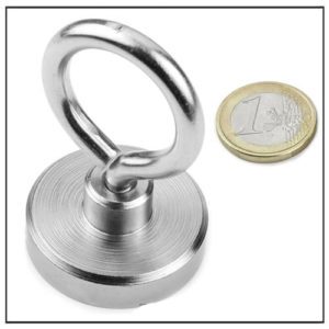 NdFeB Eyebolt Pot Magnets Ø42 mm