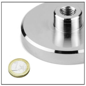 NdFeB Internal Threaded Holding Magnet Ø75 mm