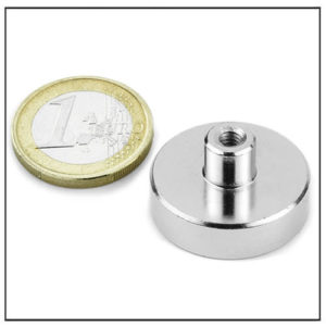 NdFeB Pot Magnet with Screw Socket Ø25 mm