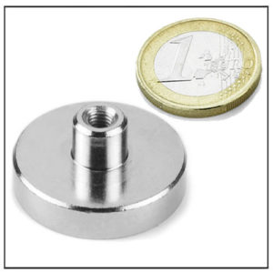 NdFeB Pot Magnet with Threaded Stem Ø32 mm