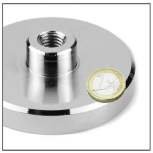 NdFeB Screw Internal Thread Pot Magnet Ø75 mm