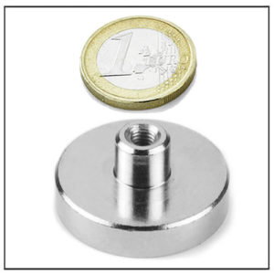 Neodymium Cup Magnet with Internal Thread Ø36 mm