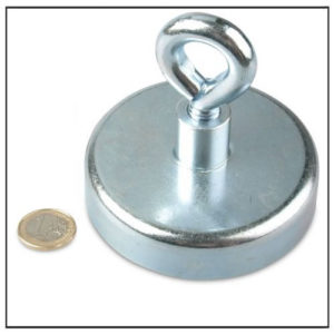Neodymium Huge Eyebolt Magnet Ø80 mm