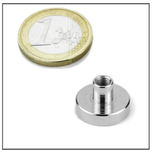 Neodymium Internal Screw Thread Pot Magnet Ø20 mm