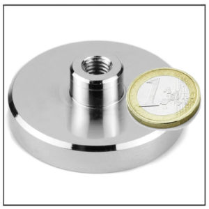 Neodymium Internal Threaded Stem Magnet Ø55 mm