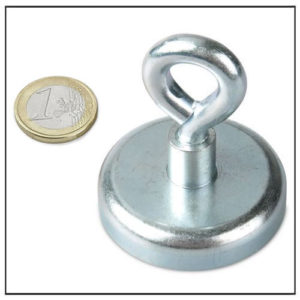 Neodymium Mounting Eyelet Magnet Ø48 mm