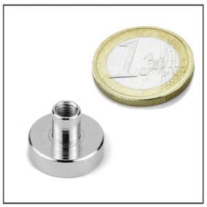 Neodymium Pot Magnet with Threaded Stud Ø20 mm