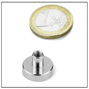 Neodymium Pot Magnets with Threaded Stem Ø18 mm