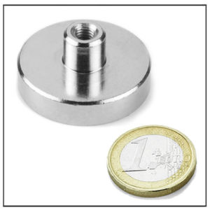 Pot Magnets with Screw Socket Ø36 mm