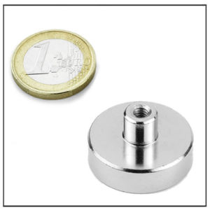 Sintered NdFeB Female Thread Magnet Ø30 mm