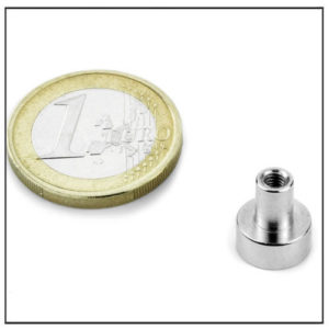 Small Internal Thread Pot Magnet Neo Ø10 mm