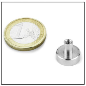 Small NdFeB Internal Thread Mounting Magnet Ø12 mm