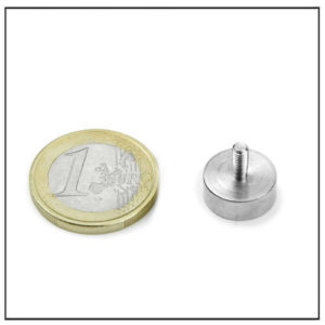 External Thread Flat Holding Magnet Ø14 mm