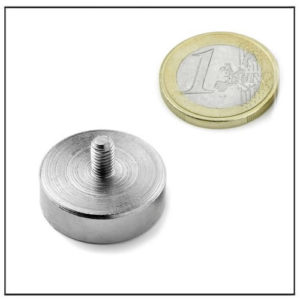 External Threaded Cup Magnet Ø25 mm