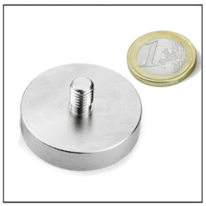 External Threaded Neodymium Pot Magnet Ø42 mm