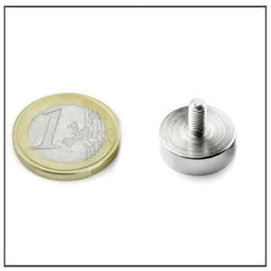 External Threaded Stud Pot Magnet Ø16 mm