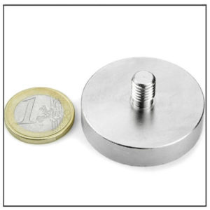 Male Threaded Stud Pot Magnet Ø40 mm