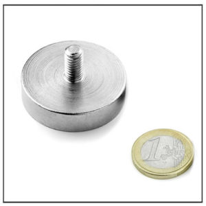 Neodymium Threaded Stem Pot Magnet Ø36 mm