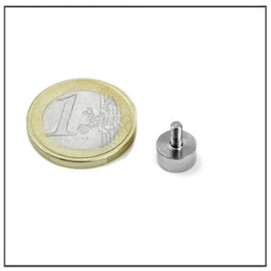 Small Pot Magnet with External Thread Ø6 mm