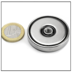 China Pot Magnet with Threaded Hole Ø42 mm