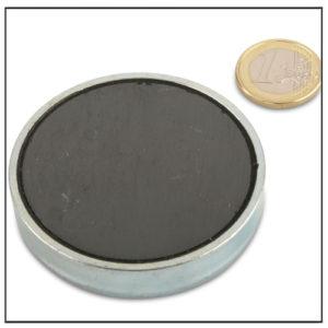 Ferrite Flat Cup Magnets Ø 63 x 10 mm