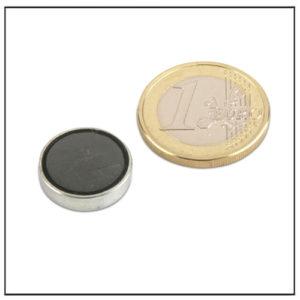 Flat Ferrite Cup Magnet Ø 16 x 4.5 mm
