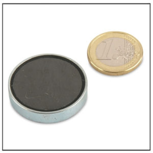 Hard Ferrite Pot Magnets Ø32 x 7 mm