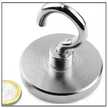 Neodymium Hook Pot Magnet Ø60 mm