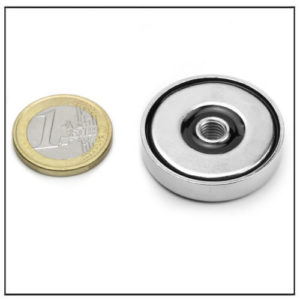 Pot Magnet with Threaded Hole Ø32 mm