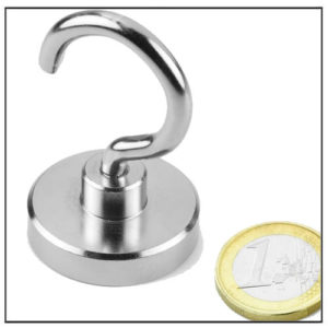 Sintered NdFeB Hook Magnet Ø38 mm